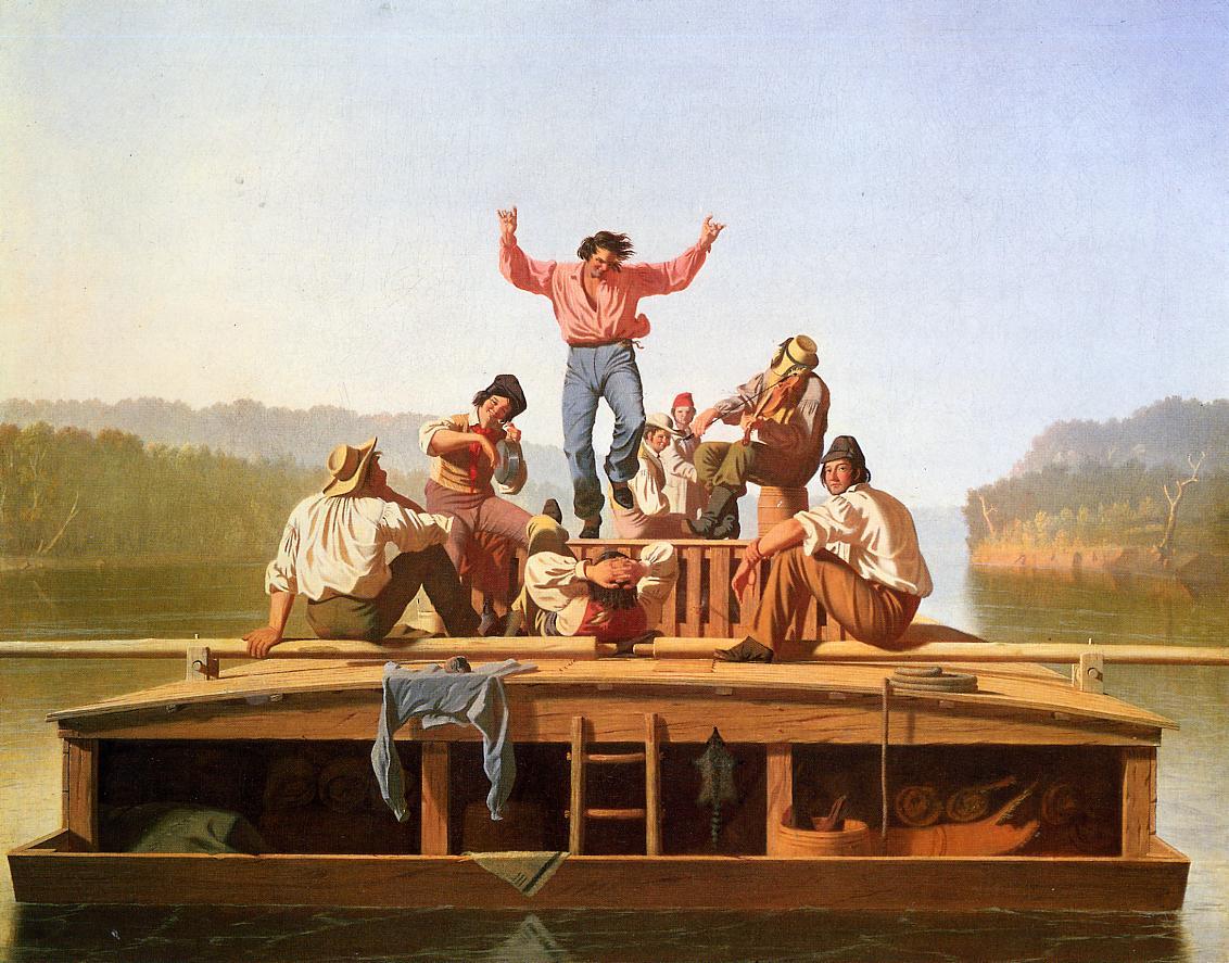 The Jolly Flatboarmen 1846   George Caleb Bingham   Oil Painting