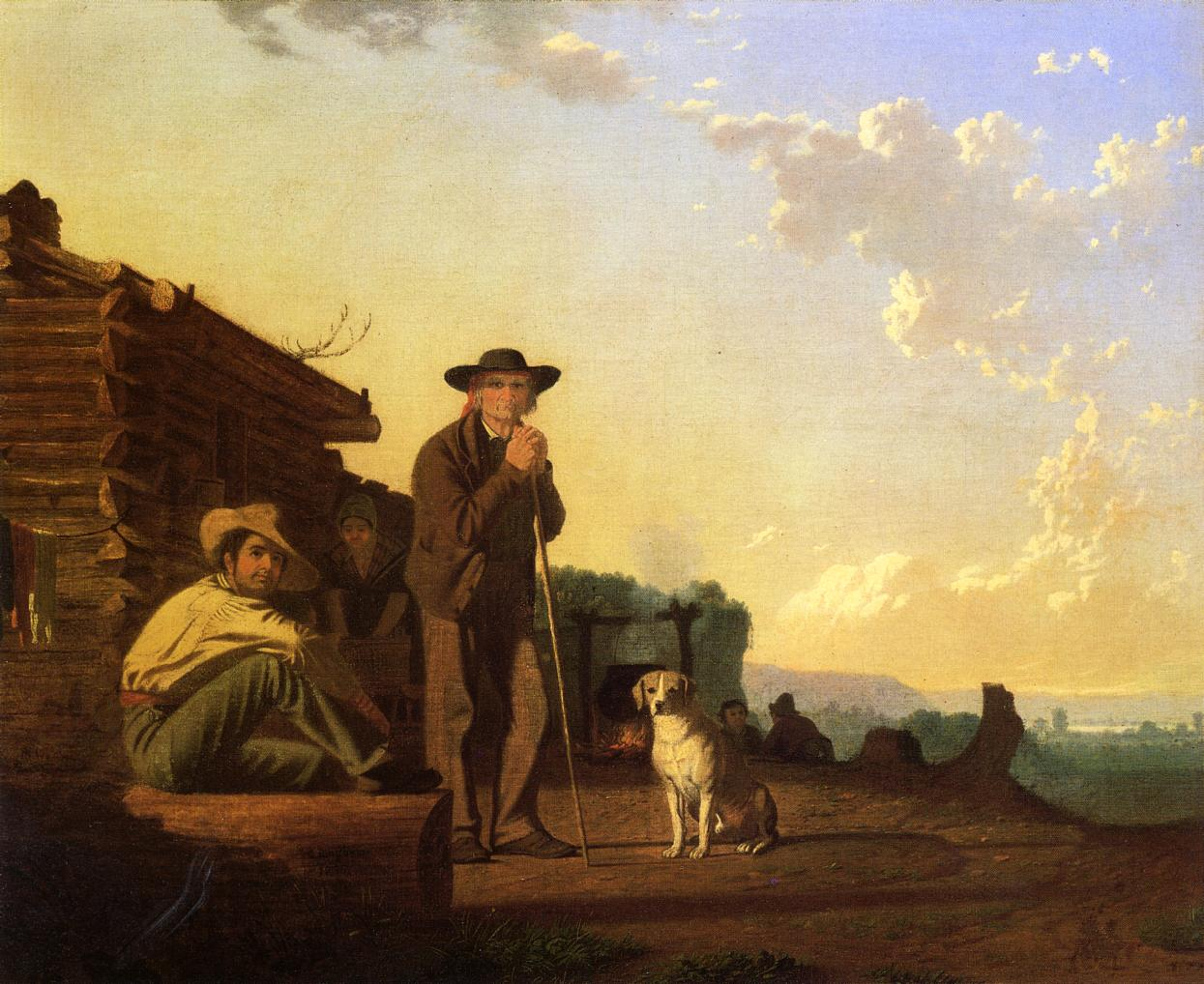 The Squatters 1850   George Caleb Bingham   Oil Painting