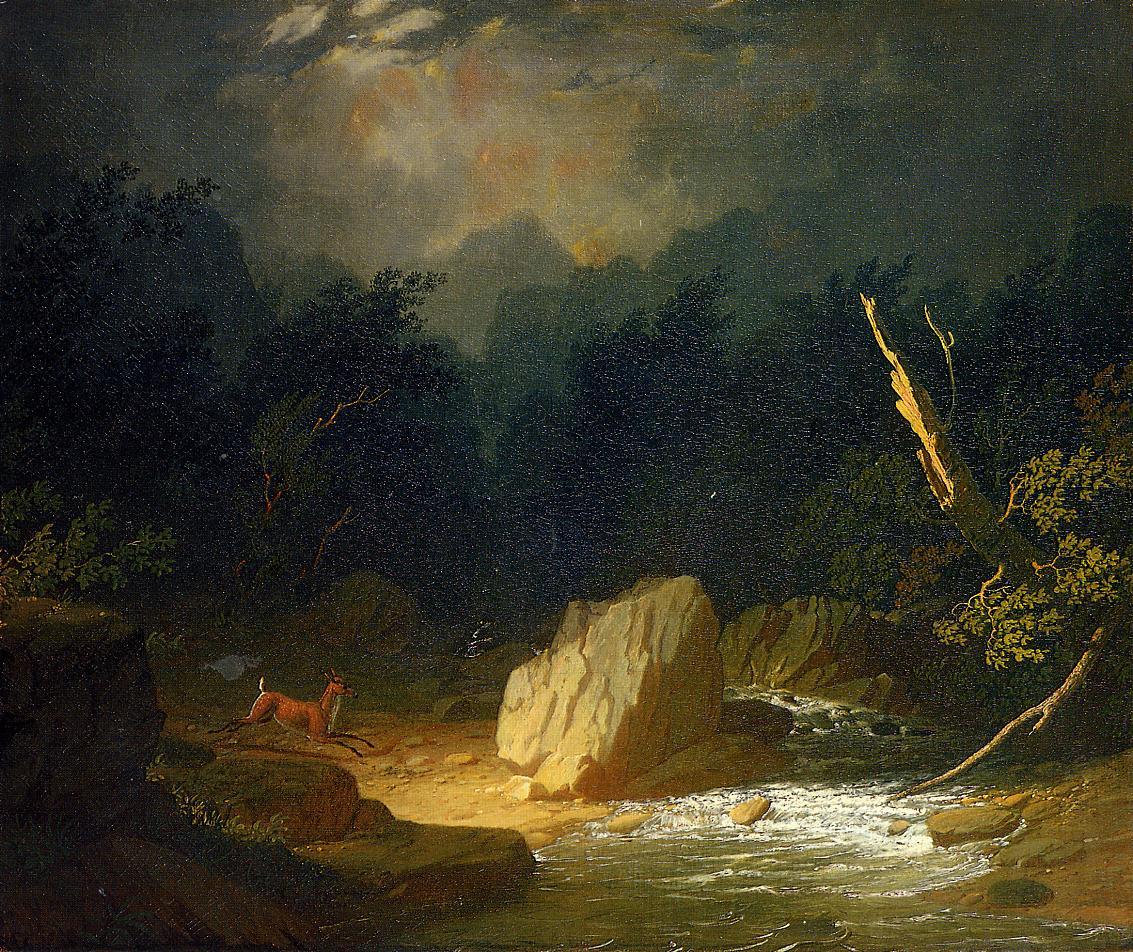 The Storm 1852-1853   George Caleb Bingham   Oil Painting