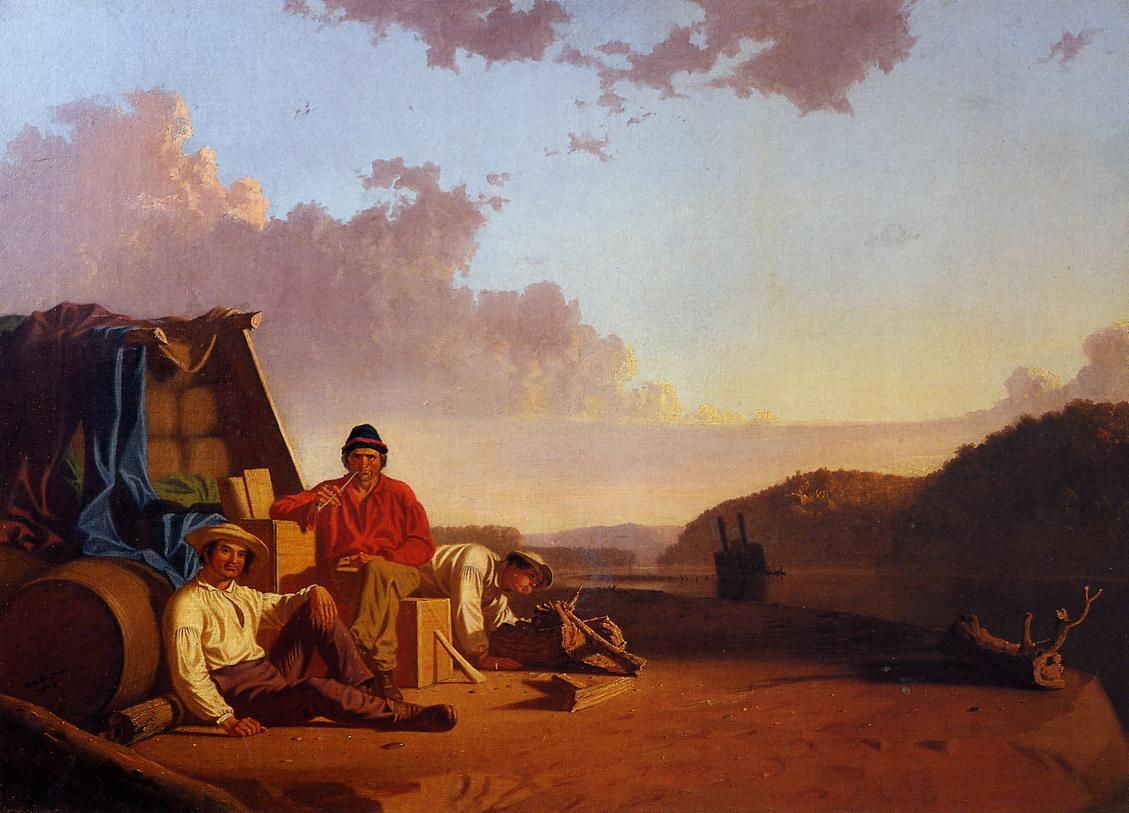 Watching the Cargo 1849   George Caleb Bingham   Oil Painting