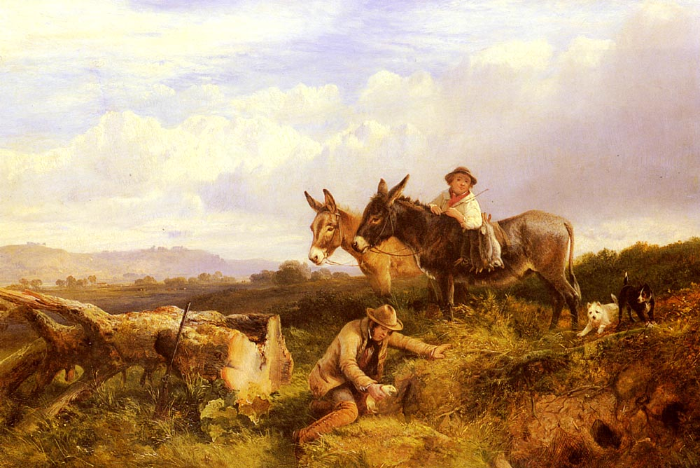 Ferreting In Surrey | George Cole | Oil Painting