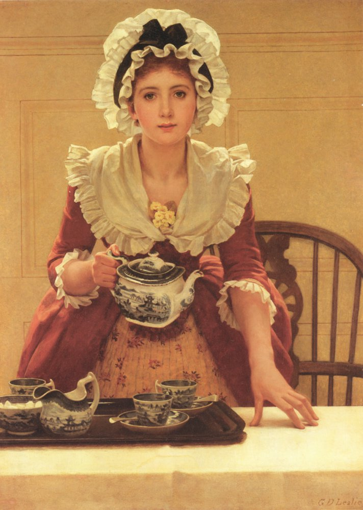 Tea | George Dunlop Leslie | Oil Painting