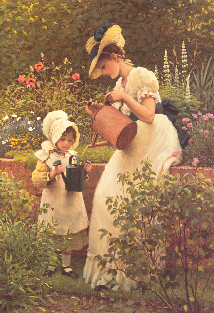The Young Gardener | George Dunlop Leslie | Oil Painting