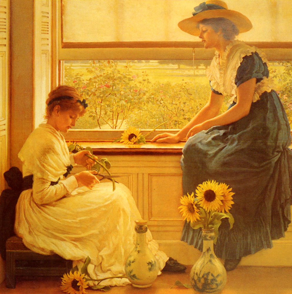 Sun And Moon Flowers | George Dunlop Leslie | Oil Painting