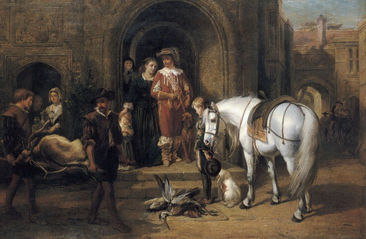 Return of the Hunting Party | George Earl | Oil Painting