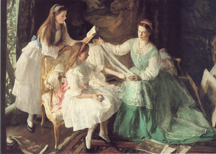 A Tangled Skein | George Harcourt | Oil Painting