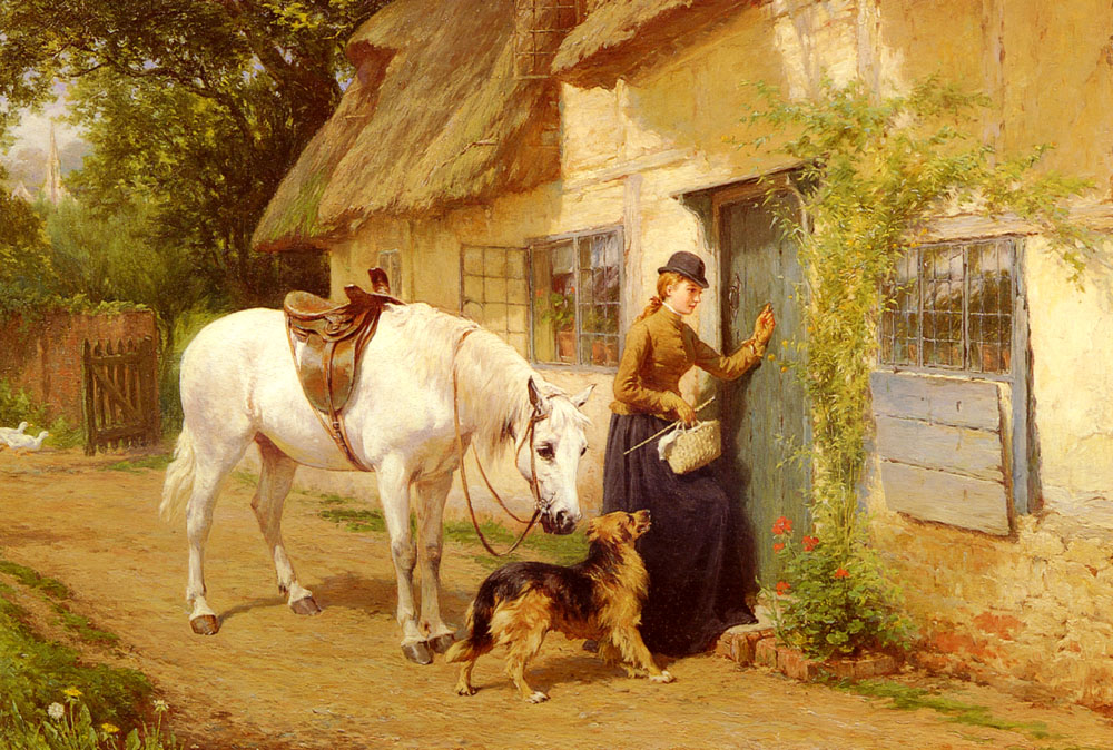 The Visitor | George Holmes | Oil Painting
