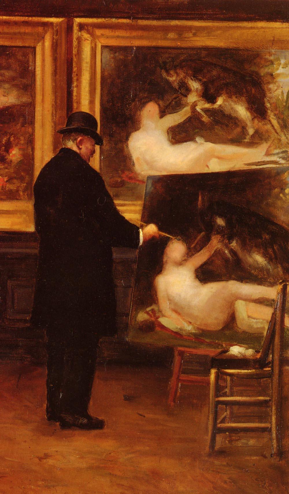 Autoportrait | George Louis Hyon | Oil Painting