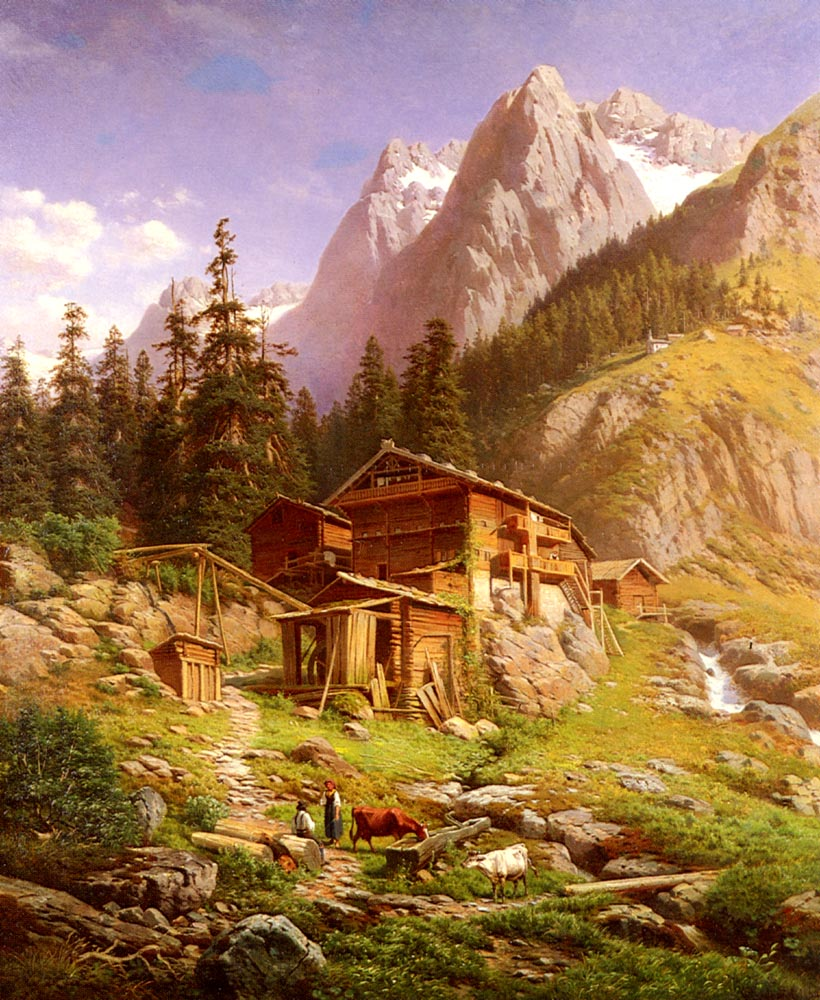 An Alpine Mill House | Georg Engelhardt | Oil Painting