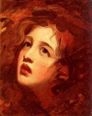 Portrait Study Of Emma Hamilton As Miranda | George Romney | Oil Painting