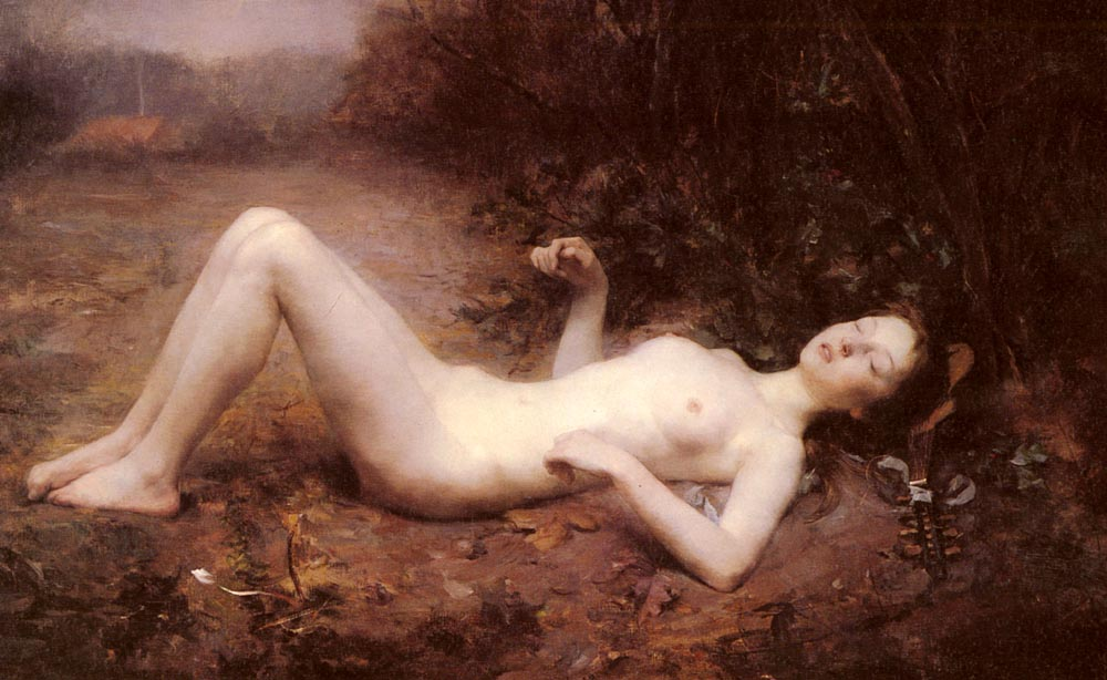 A Nude With a Mandolin | Georges Callot | Oil Painting
