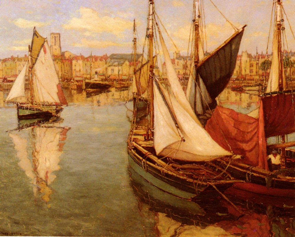 Dans Le Port De La Rochelle | Georges Charpentier | Oil Painting