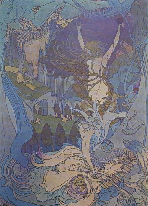The Door Of Dreams 1897-98 | Georges de Feure | Oil Painting