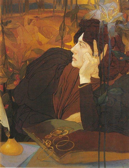 The Voice Of Evil 1895 | Georges de Feure | Oil Painting