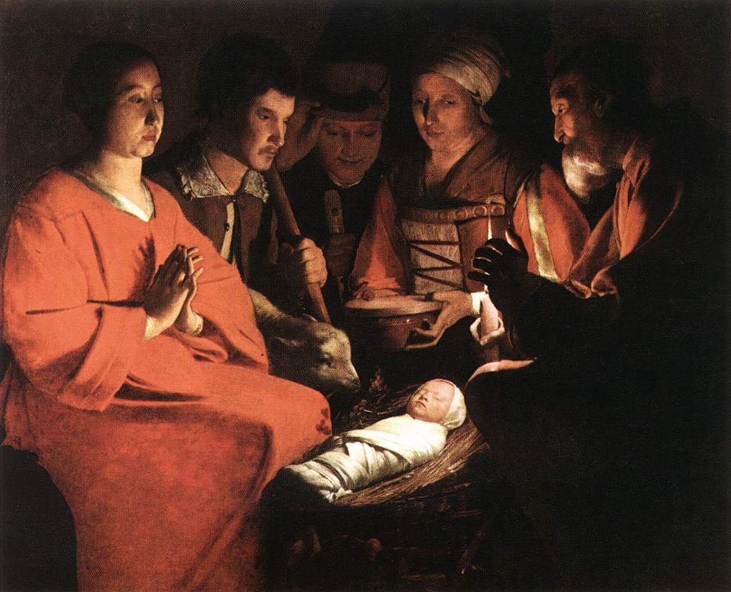 Adoration Of The Shepherds 1644 | Georges De La Tour | Oil Painting