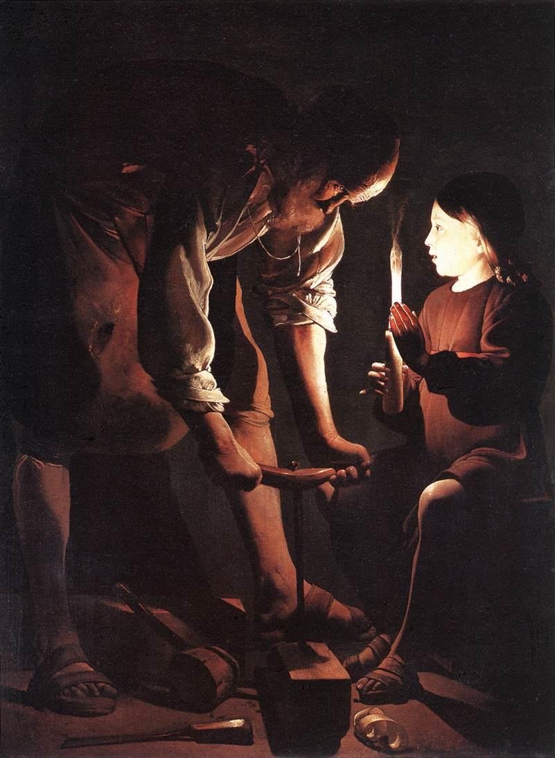 Christ In The Carpenters Shop (Detail) 1645   Georges De La Tour   Oil Painting