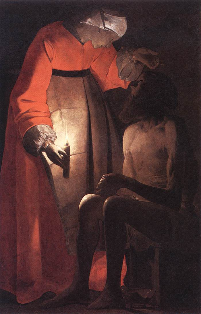 Job Mocked By His Wife 1630s | Georges De La Tour | Oil Painting