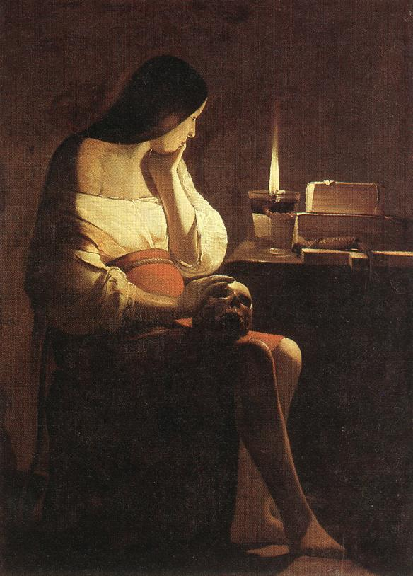 Magdalen Of Night Light 1630-35 | Georges De La Tour | Oil Painting