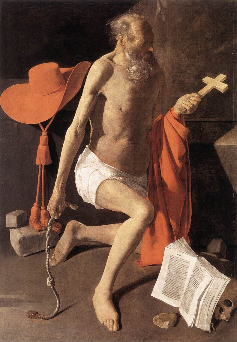 Penitent St Jerome 1630 | Georges De La Tour | Oil Painting