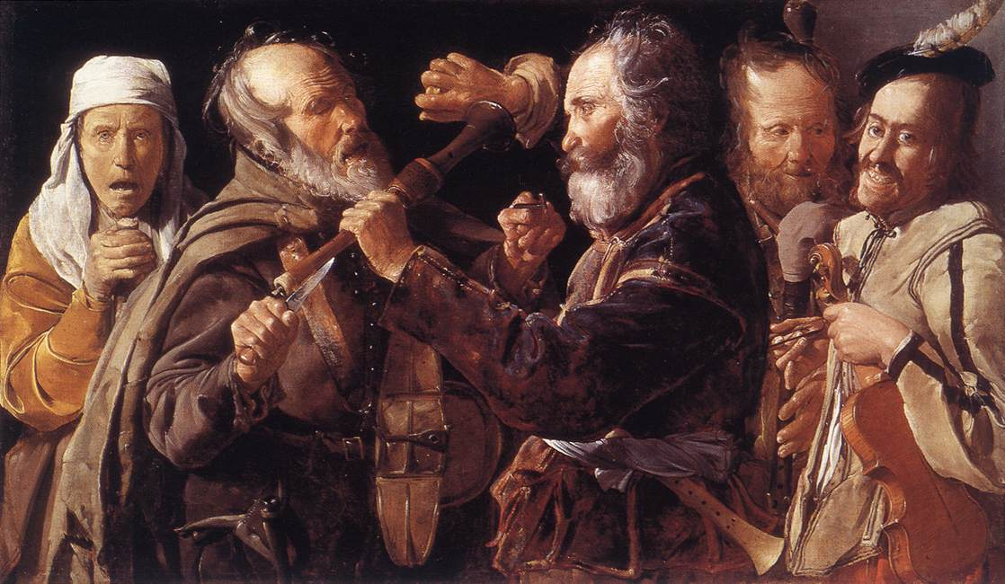 Quarrelling Musicians 1625-30 | Georges De La Tour | Oil Painting