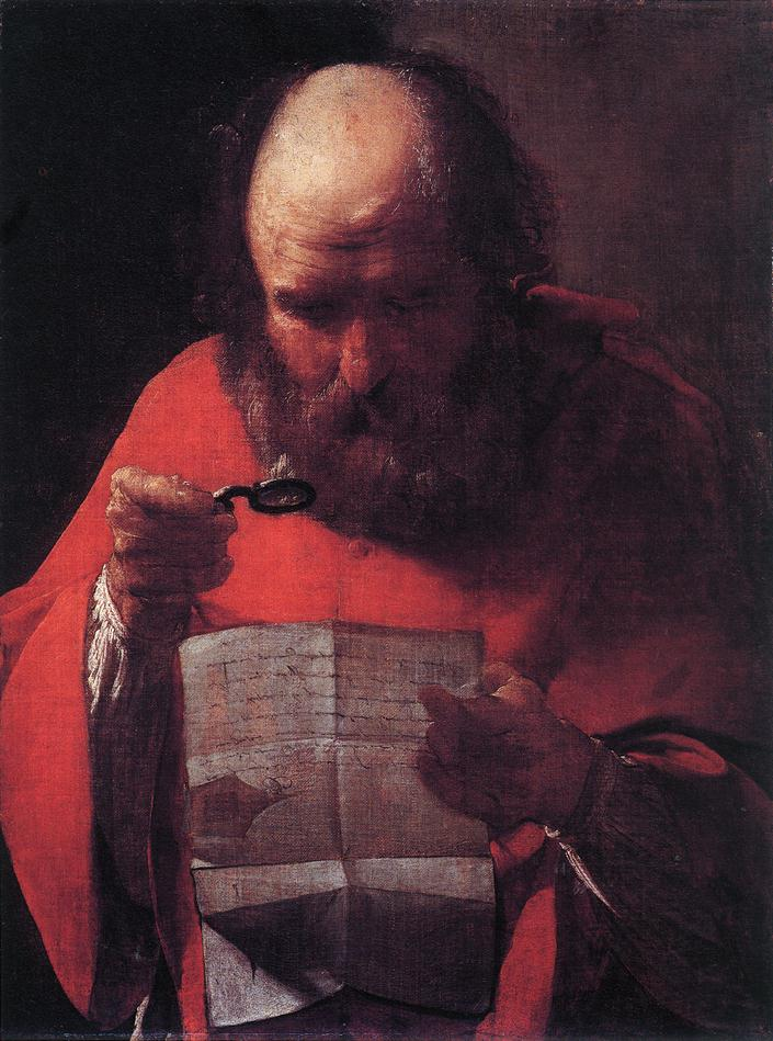 Saint Jerome Reading 1621-23 | Georges De La Tour | Oil Painting