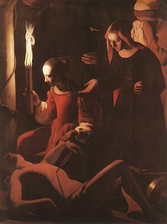 St Sebastien Attended By St Irene 1634-43 | Georges De La Tour | Oil Painting