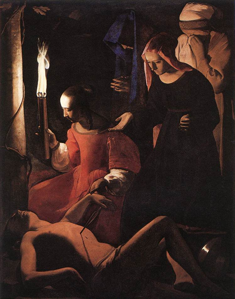 St Sebastien Attended By St Irene 1649 | Georges De La Tour | Oil Painting