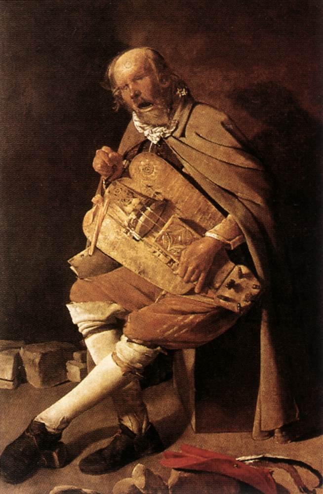 The Hurdy Gurdy Player 1631-36 | Georges De La Tour | Oil Painting