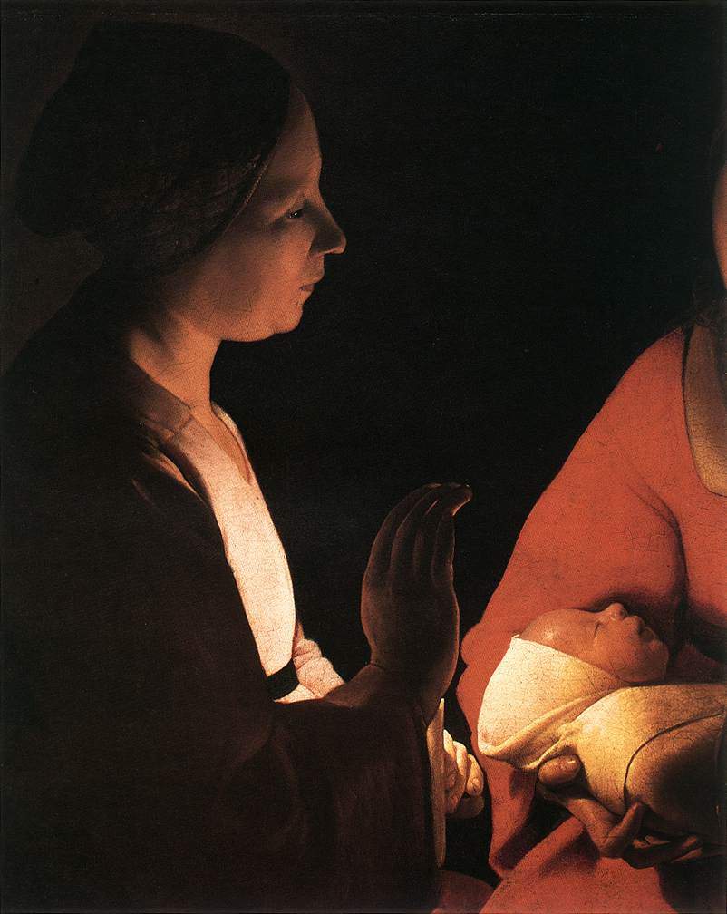 The New-Born (Detail) 1640s | Georges De La Tour | Oil Painting