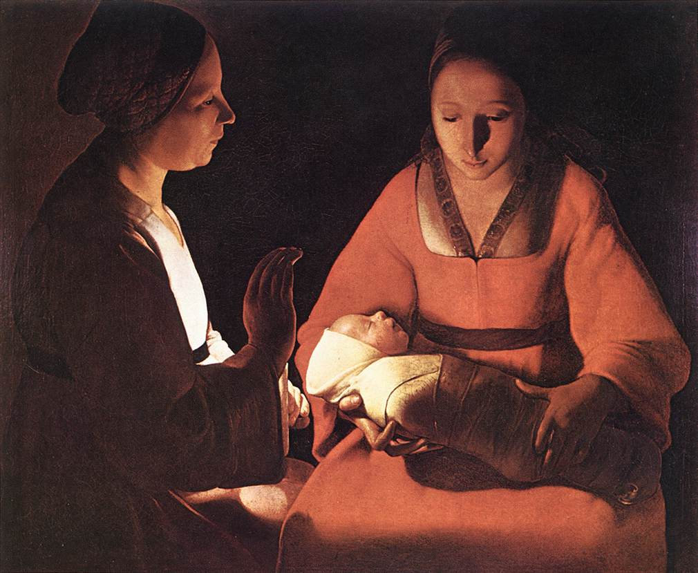 The New-Born 1640s | Georges De La Tour | Oil Painting