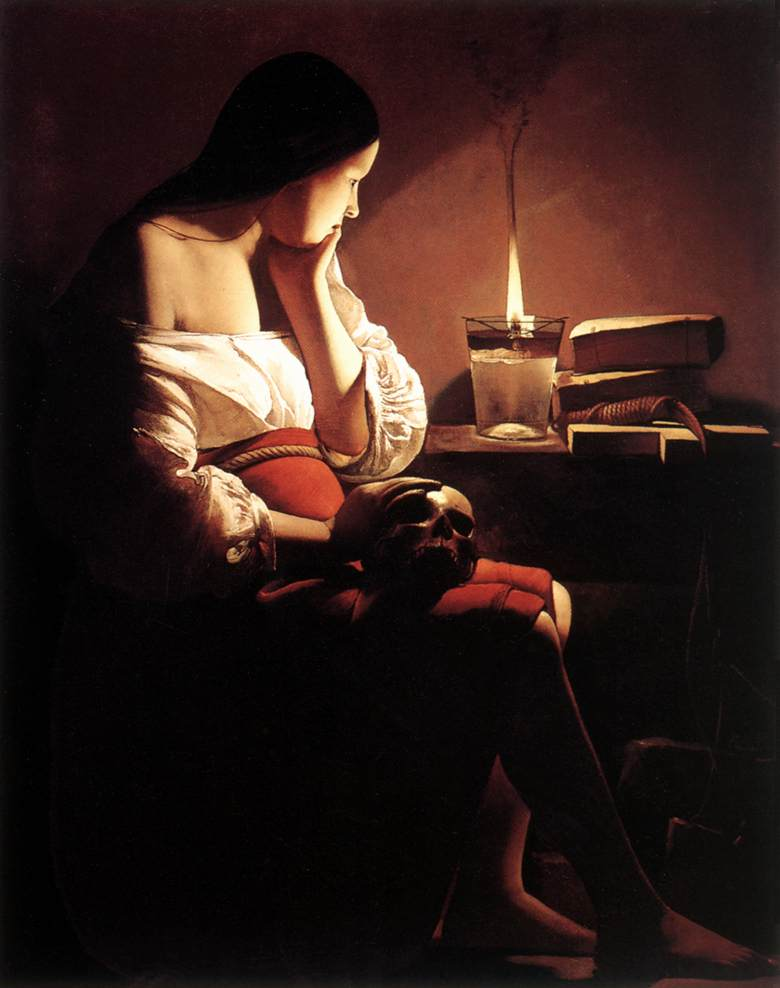 The Penitent Magdalen 1638-43 | Georges De La Tour | Oil Painting