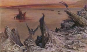La Chimere A Lile De Saint Bernhardt 1892 | Georges Jules Victor Clairin | Oil Painting