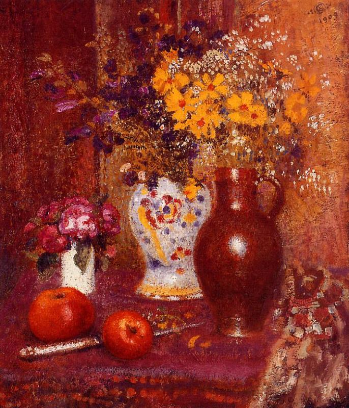 Flowers and Apples 1909 | Georges Lemmen | Oil Painting