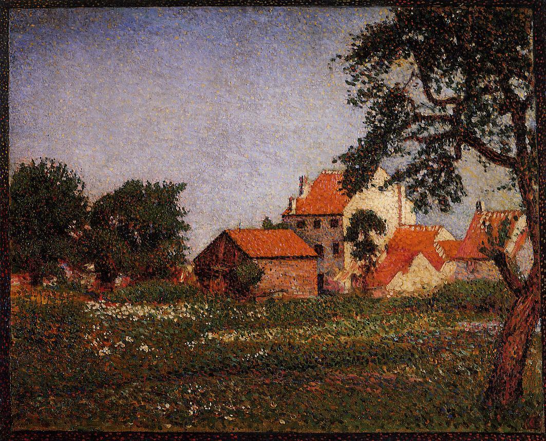 Houses at La Hulpe 1888 | Georges Lemmen | Oil Painting