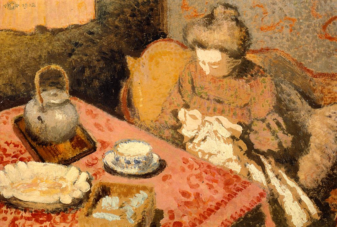 Tea (aka Madame Gaorges Lemmen) 1902 | Georges Lemmen | Oil Painting