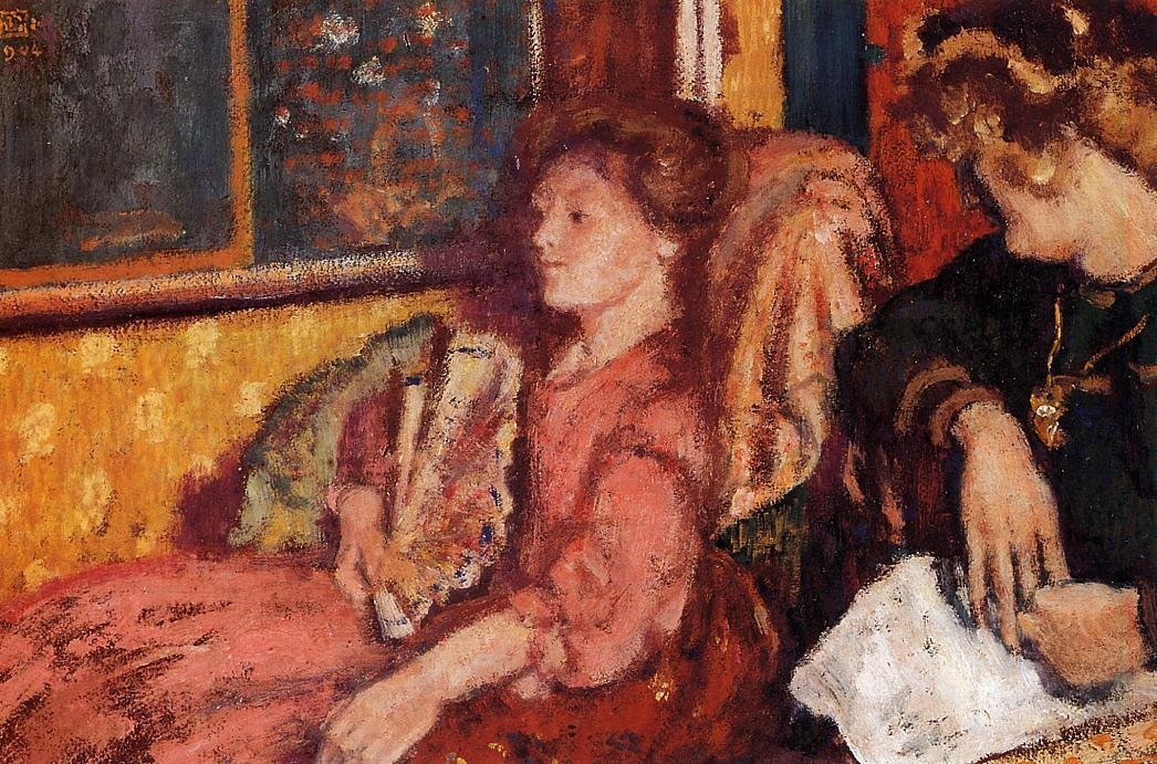 The Talk (aka Two Women in an Interior) 1904 | Georges Lemmen | Oil Painting