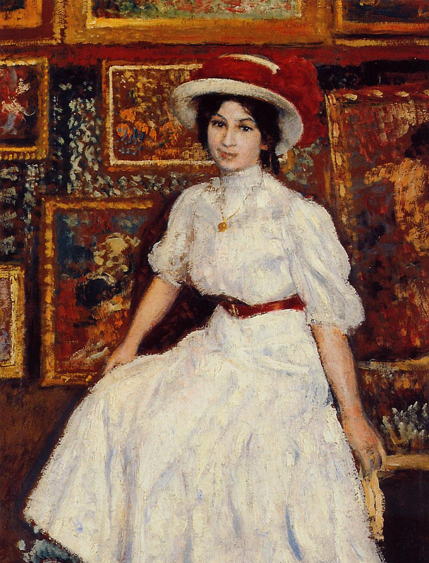 Young Girl in White 1907 | Georges Lemmen | Oil Painting