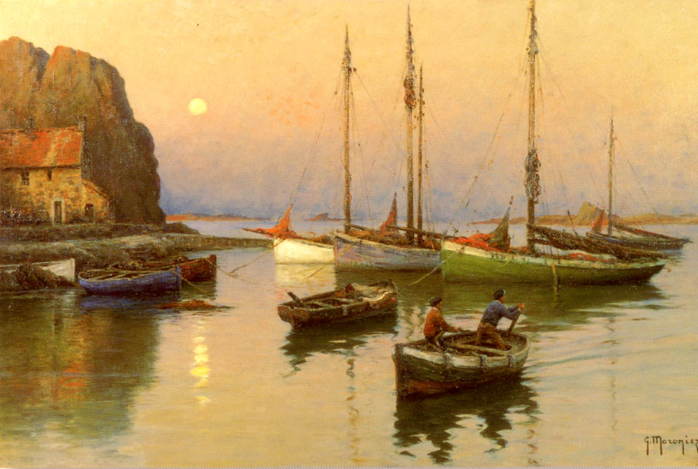 Back To The Quay   Georges Maroniez   Oil Painting