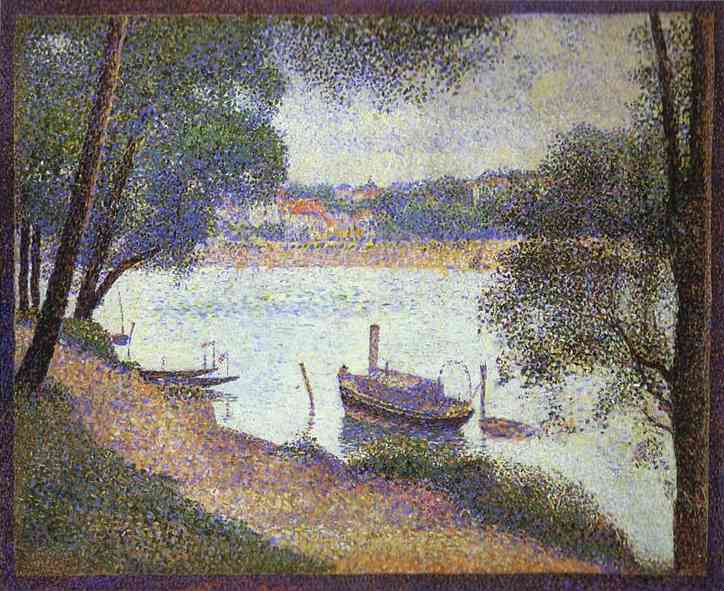 Gray Weather La Grande Jatte 1888 | Georges Seurat | Oil Painting