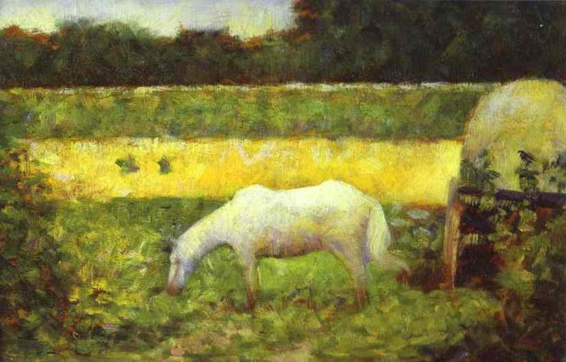 Landscape With A Horse 1882 | Georges Seurat | Oil Painting