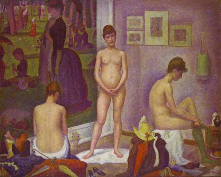 Models 1886-88 | Georges Seurat | Oil Painting