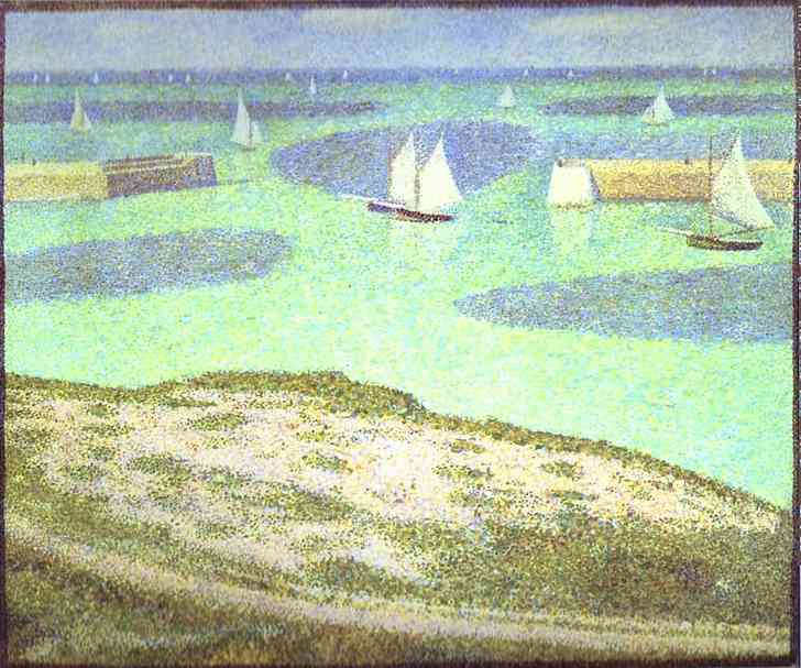 Port En Bessin Entrance To The Harbour 1888 | Georges Seurat | Oil Painting