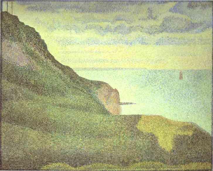 Port En Bessin Les Grues Et La Percee 1888 | Georges Seurat | Oil Painting