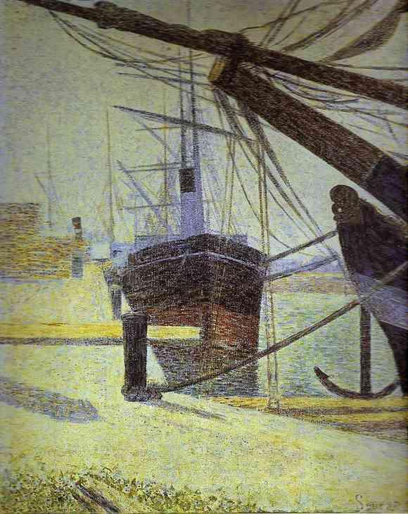 Quayside Honfleur 1886 | Georges Seurat | Oil Painting