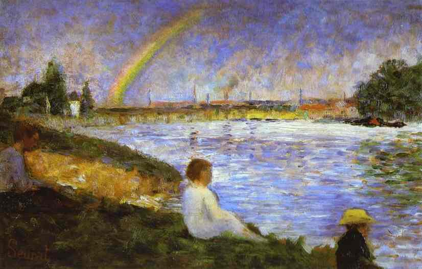 Rainbow (Study For Bathers At Asnieres) 1883 | Georges Seurat | Oil Painting
