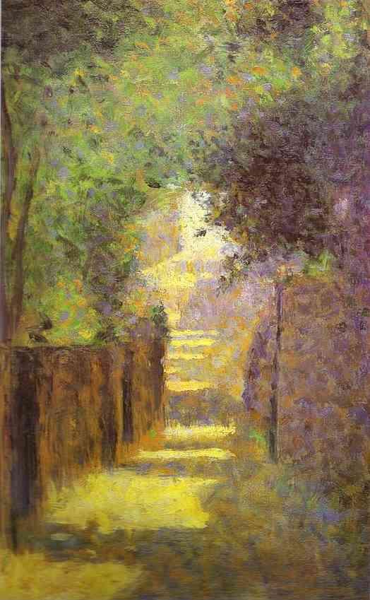 Saint Vincent Street Montmartre Spring 1884 | Georges Seurat | Oil Painting