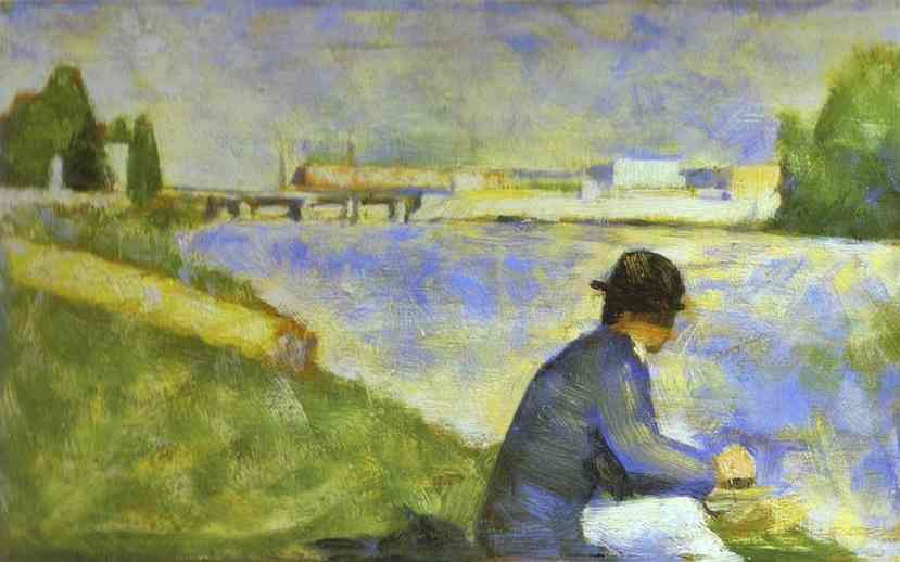 Seated Person (Study For Bathers At Asnieres) 1883-84 | Georges Seurat | Oil Painting