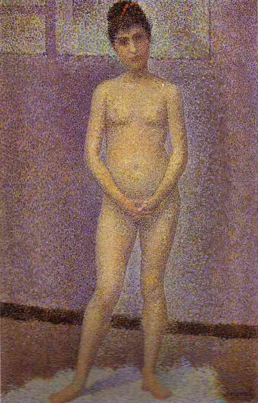 Standing Model (Study For Les Poseuses) 1886-87 | Georges Seurat | Oil Painting