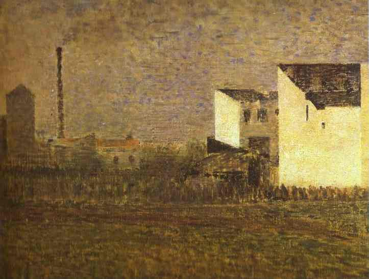 Suburb 1882-83 | Georges Seurat | Oil Painting