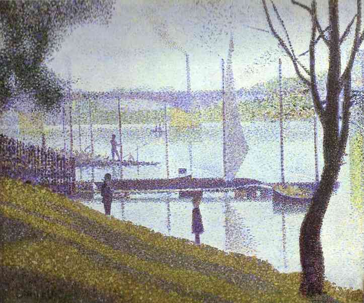 The Bridge At Courbevoie 1886-67 | Georges Seurat | Oil Painting